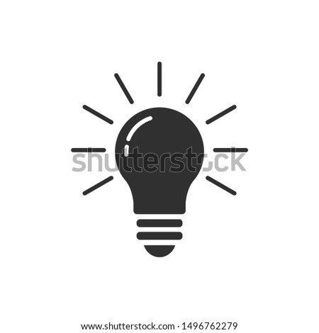 Light bulb icon template color editable. Lightbulb solution idea and creativity symbol vector sign isolated on white background illustration for graphic and web design.