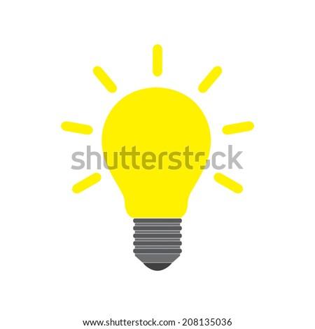 Light bulb icon - Vector