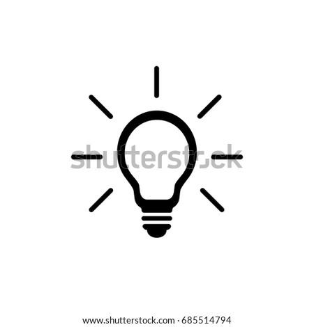 Light Bulb Icon. Vector.