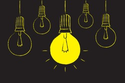Light Bulb icon vector. Idea concept illustration.