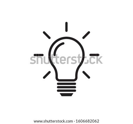 Light bulb icon vector. Ideas, solution,  electricity symbol vector graphic