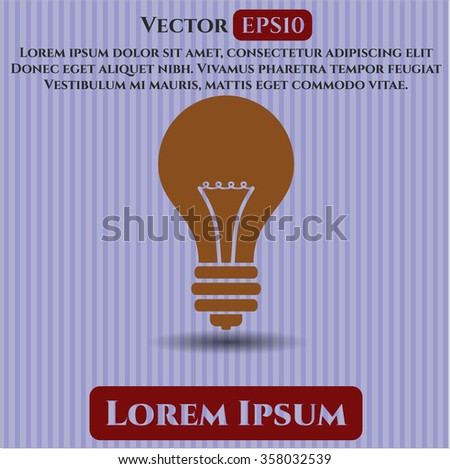 Light bulb icon vector illustration