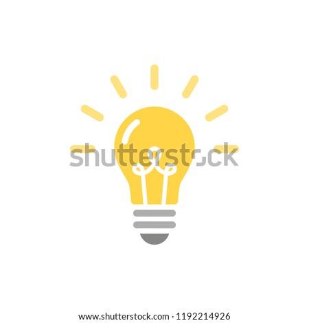 Light bulb icon. Vector illustration, flat design