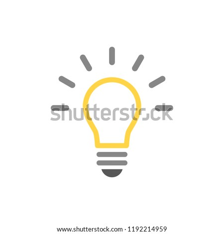 Light bulb icon. Vector illustration, flat design