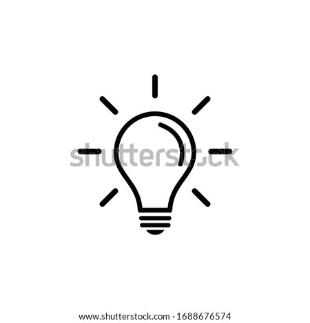 Light Bulb icon vector. Light Bulb sign.   Idea, solution.
