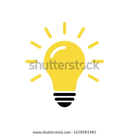 Light bulb icon vector. Solution, idea icon symbol vector graphic