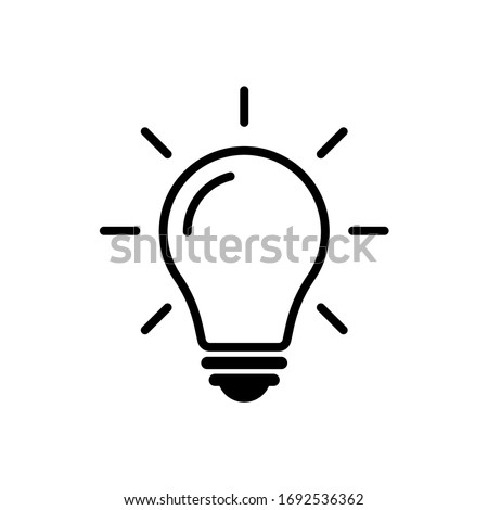 Light bulb icon vector. Solution, ideas symbol vector graphic