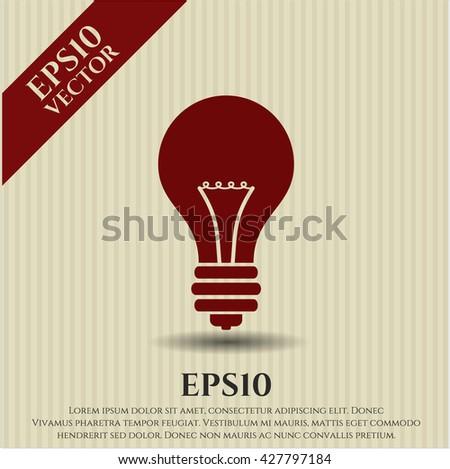 light bulb icon vector symbol flat eps jpg app web concept