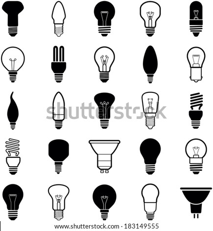 Light bulb icons - vector illustration collection