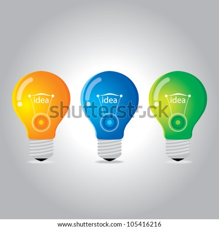 light bulb idea vector illustration