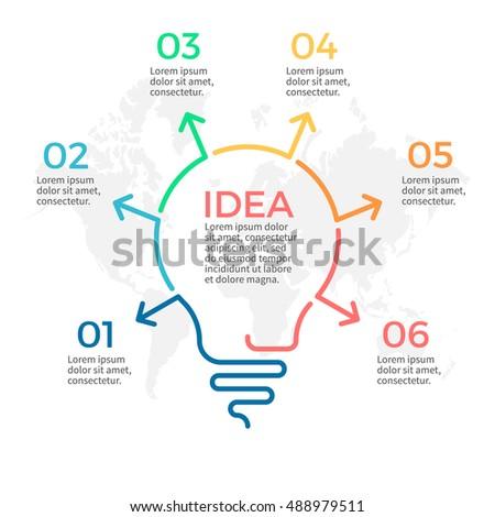 light bulb infographic idea