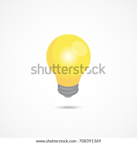 Light bulb isometric icon. 3d vector illustration.