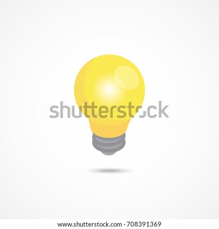 Light bulb isometric icon. 3d vector illustration.