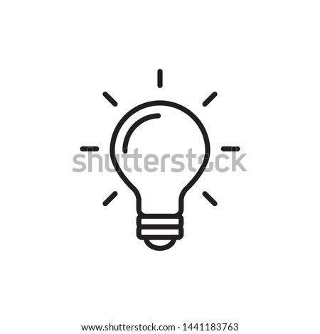 Light Bulb / Lamp Icon Vector Illustration
