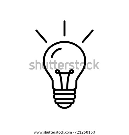 light bulb line icon on white background