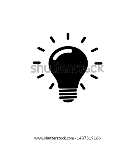 Light bulb line icon vector. Bulb icon illustration template
