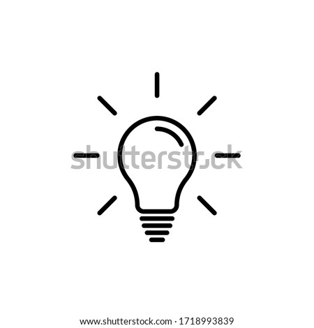 Light bulb line icon vector. Bulb, ideas, Creative icon symbol