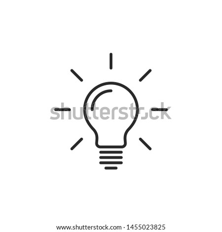 Light bulb line icon vector. Bulb, ideas, solution symbol
