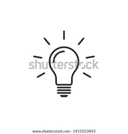 Light bulb line icon vector. Bulb, ideas, solution symbol