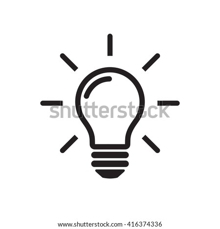 Shutterstock Light Bulb line icon vector,  isolated on white background. Idea sign, solution, thinking  concept. Lighting Electric lamp. Electricity, shine. Trendy Flat style for graphic design, Web site, UI. EPS