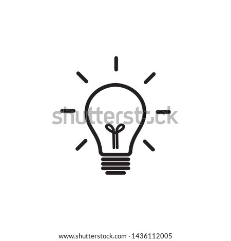 Light bulb line icon vector. Light bulb, ideas sulution symbol