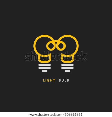 light bulb line vector logo