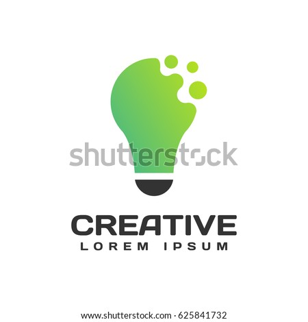 Light bulb logo. Light bulb icon. Creative logo. Creative ideas concept. Idea icon. Idea logo. Power, energy, electricity, Idea bulb sign. Brainstorm icon. Creation elements. Think idea concept.