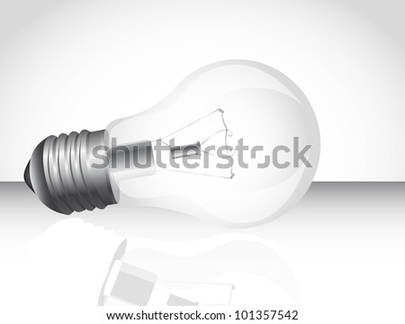 light bulb over floor with shadow background. vector illustration