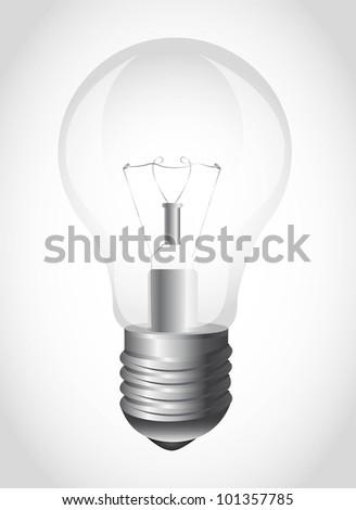 light bulb over gray background. vector illustration