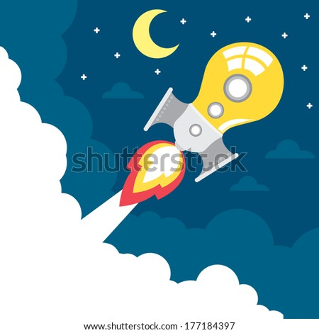 light bulb rocket launch with