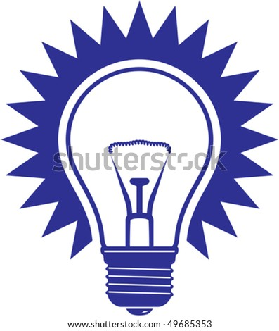 Light bulb simple vector icon isolated on white background