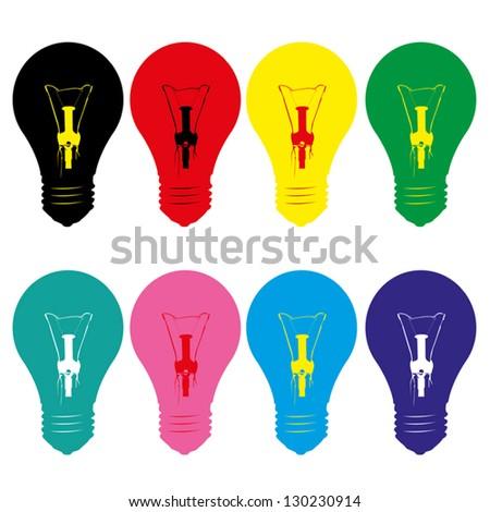 light bulb style vector