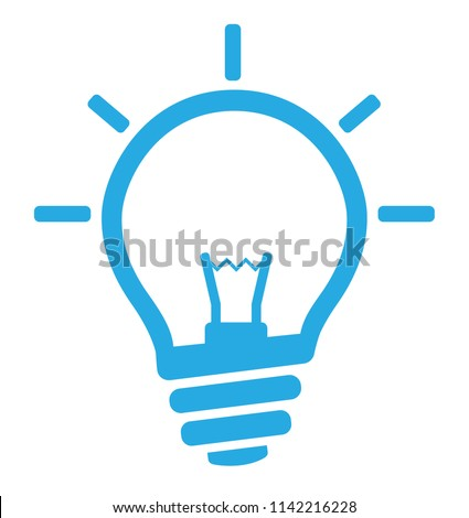 Light bulb symbol vector. Energy sign Foto stock ©