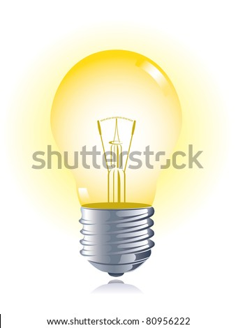 Light bulb, vector - stock vector