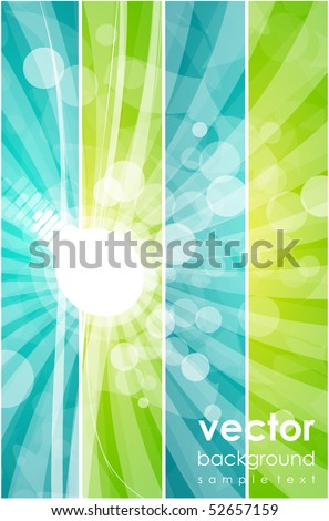 Light bulb. Vector abstract background