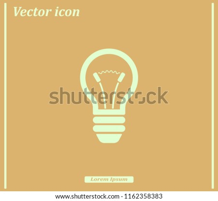 Light Bulb, vector icon.