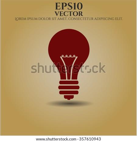 Light bulb vector icon or symbol