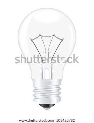 Light bulb. Vector illustration - stock vector