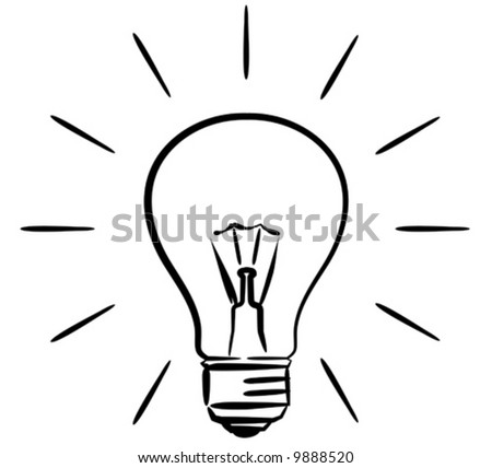 Light bulb – vector illustration