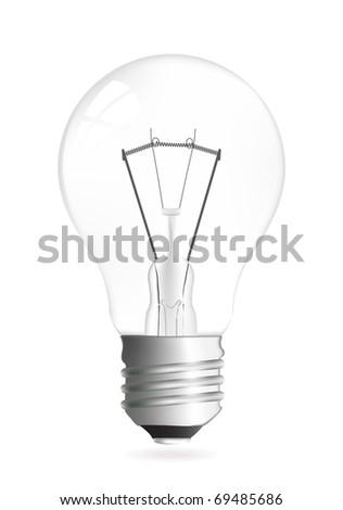 Light bulb vector illustration isolated over white