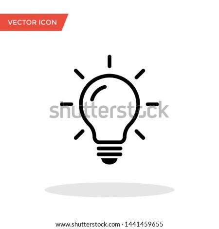Light bulb vector line icons in trendy flat style isolated on white background