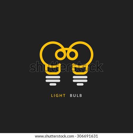 light bulb vector logo