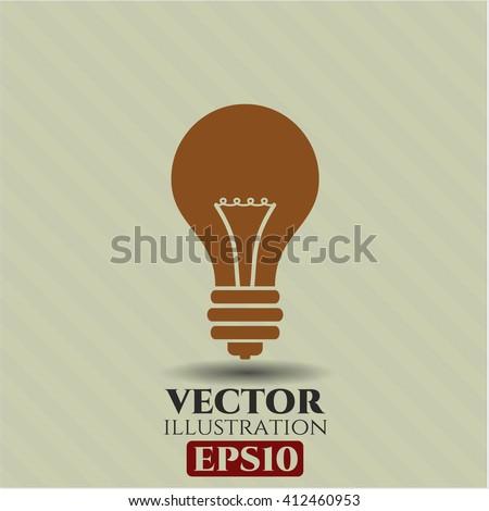 Light bulb vector symbol