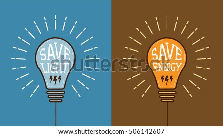 light bulb vector with save