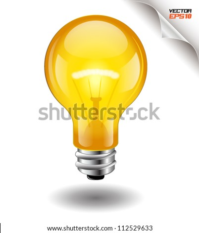 light bulb yellow vector.