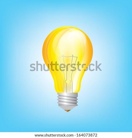 light bulb yellow vector - Shutterstock ID 164073872