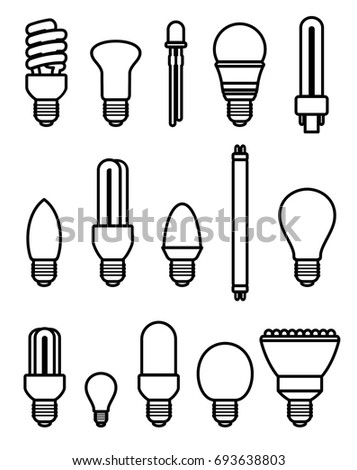 Light bulbs set. Vector