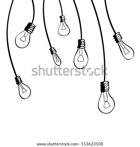Light bulbs. Vector illustration
