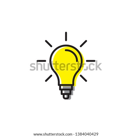 light bulp lamp idea energy symbol icon vector isolated on white
