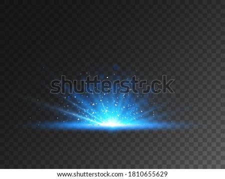light burst on transparent